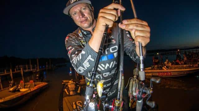 Brent Erhler scored well on the Potomac by cycling through a variety of lures rather than trying to keep pace with the tides by running to numerous spots. photo by Garrick Dixon/B.A.S.S.