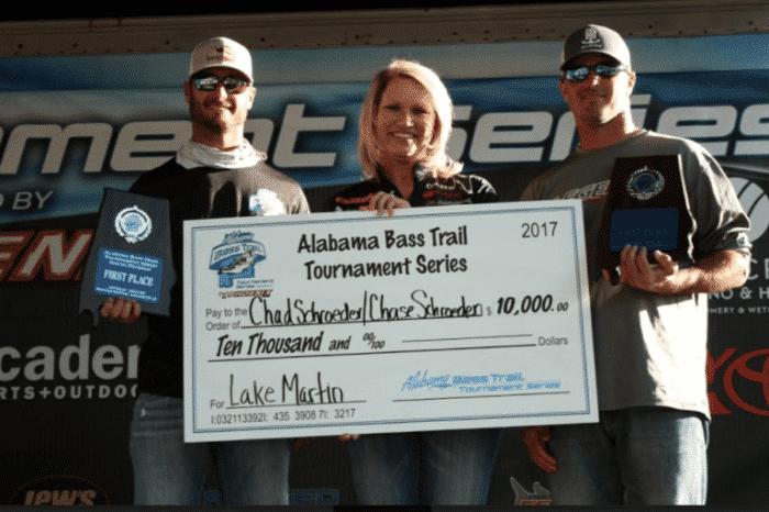 36b57ff4 Chad and Chase Schroeder Win 2017 Alabama Bass Trail Lake Martin