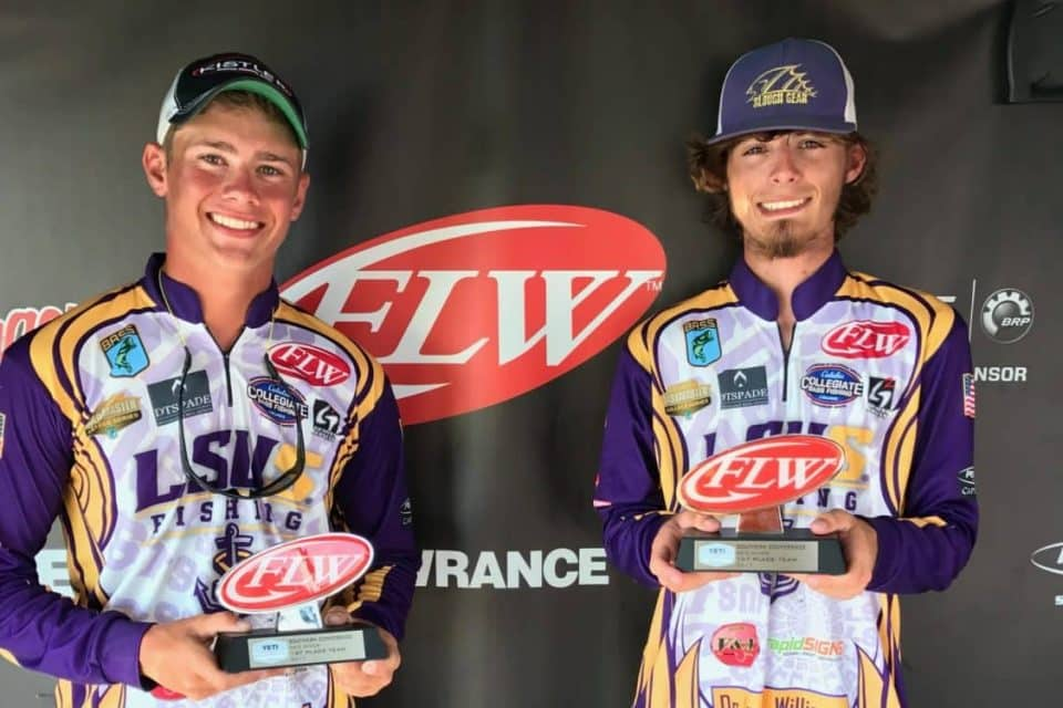 LSU-SHREVEPORT WINS YETI FLW COLLEGE FISHING TOURNAMENT ON RED RIVER