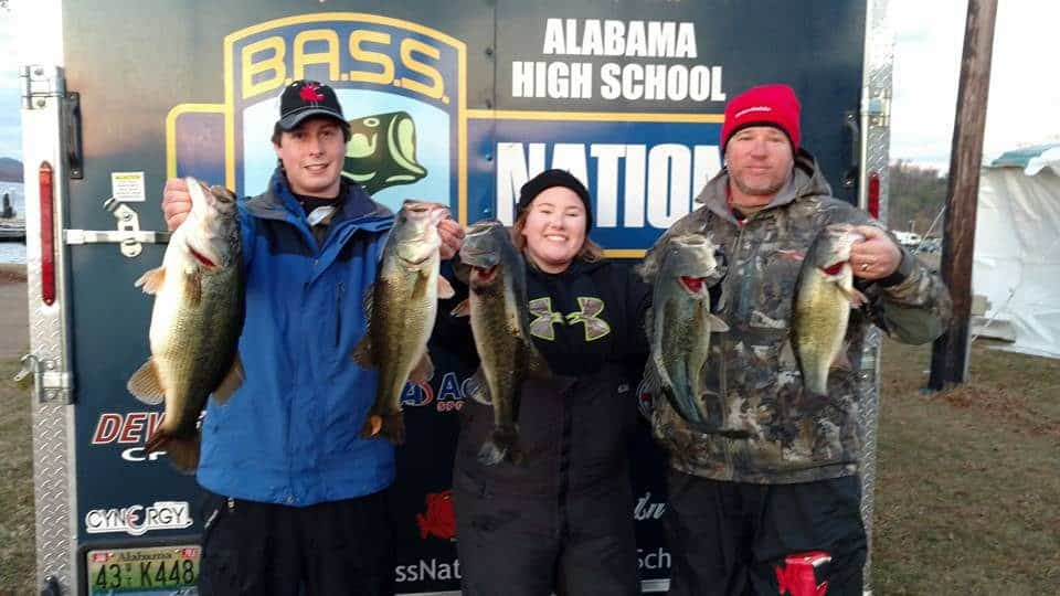 Lakeside's Abby Montgomery & John Adams Gray Take First Place with 21.58 lb Limit in Alabama BASS Nation High School Qualifier on Guntersville