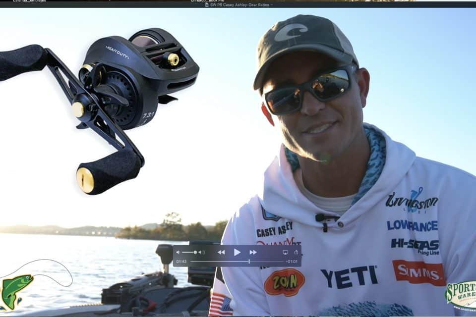 Sportsmans Warehouse Product Spotlight - Casey Ashley on Gear Ratios & Spool Size.