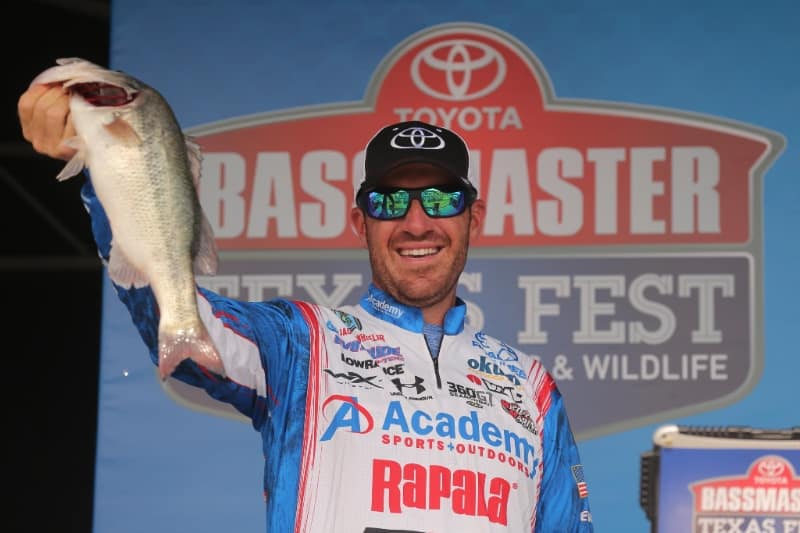 Jacob Wheeler Charges Ahead At Toyota Bassmaster Texas Fest On Lake Travis