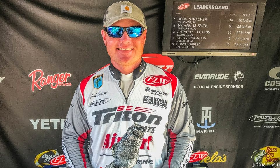 VANDIVER'S STRACNER WINS T-H MARINE FLW BASS FISHING LEAGUE BAMA DIVISION FINALE ON LAKE JORDAN