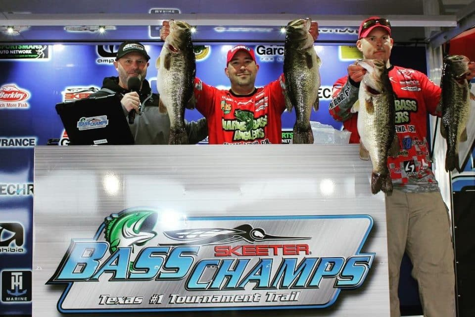 Richards & Brewer Top a record field of over 600 anglers on Toledo Bend with 33.15 lbs for Bass Champs Win!