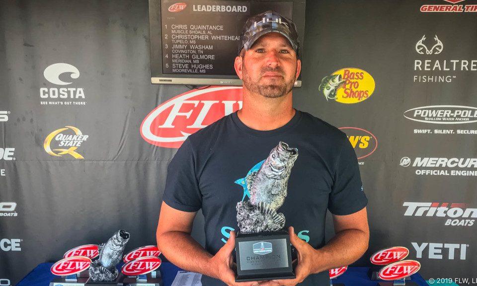 ALABAMA'S QUAINTANCE WINS T-H MARINE FLW BASS FISHING LEAGUE TOURNAMENT ON PICKWICK LAKE