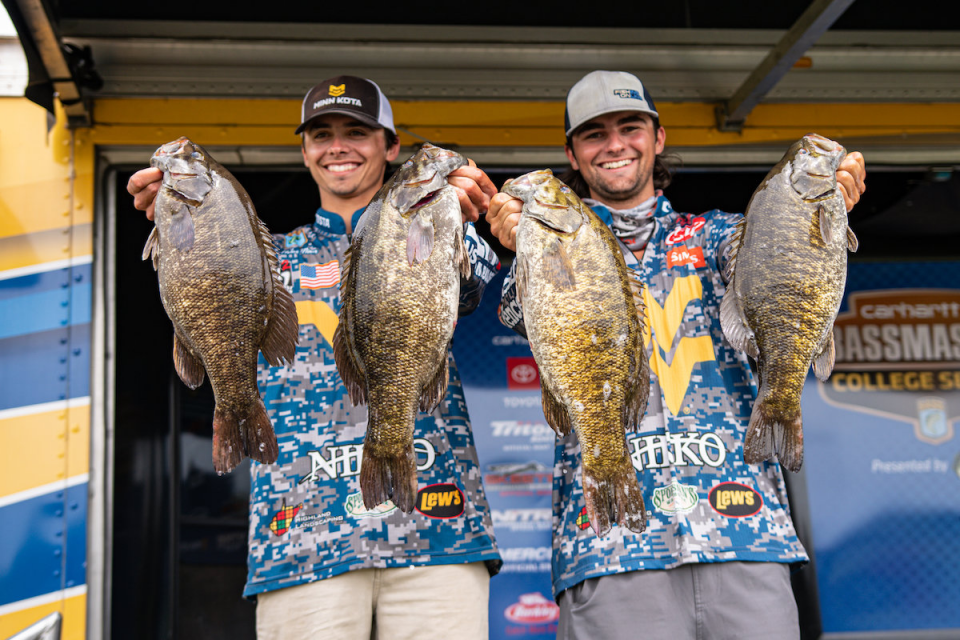 West Virginia Team's Huge Catch Takes Lead In Bassmaster College Tour At St. Lawrence River