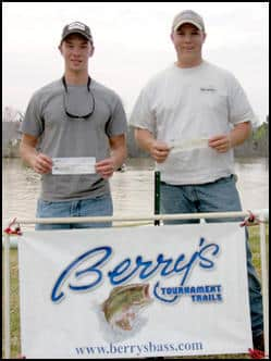 GRANT KELLY AND JARED HENDRIX WON WITH 5 @ 20.25 LBS. PATTERN: FISHING  CRANKBAITS
