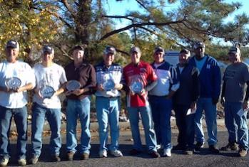 From left to right; 1st and Big fish winner Gene Parker / 2nd place Philip Anderson / 3rd place Cason Nickles / 4th place Bill Pinion / 5th place Jay Treon / 6th place Kevin Fulmer