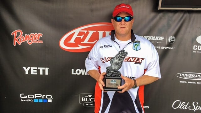 Monteagle s rollins wins t h marine flw bass fishing for Tims ford lake fishing report