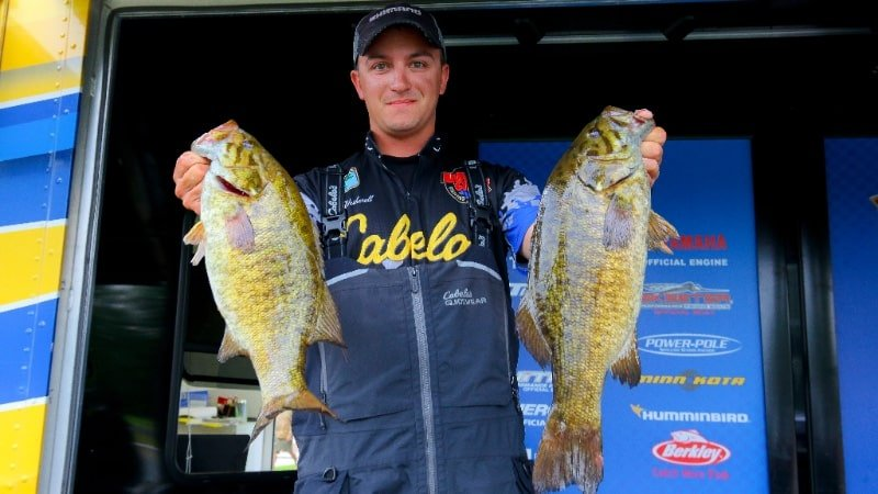 wetherell takes lead at bassmaster northern open on oneida