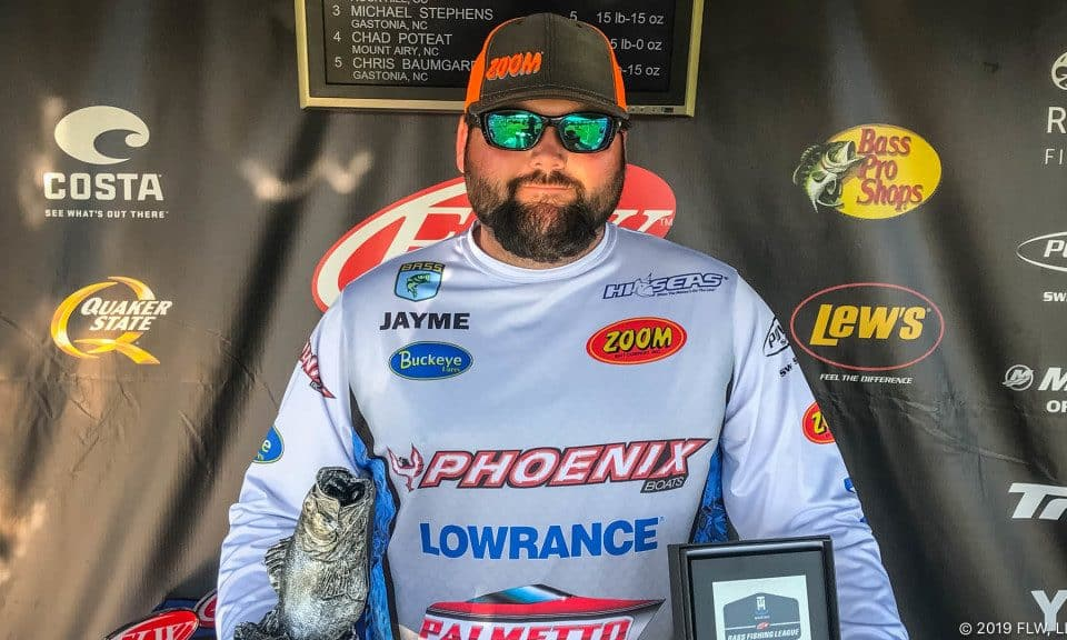 RAMPEY WINS T-H MARINE FLW BASS FISHING LEAGUE TOURNAMENT ON LAKE WYLIE